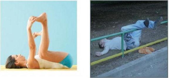 Bra övning som masserar höftled.