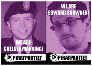 Chelsea Manning, Edward Snowden