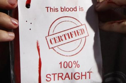 this blood is certified 100% straight